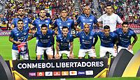 IBAGUE- COLOMBIA, 03-04-2019: Los jugadores de Jorge Wilstermann (BOL), posan para una foto, antes de partido de la fase de grupos, grupo G, fecha 3, entre Deportes Tolima (COL) y Jorge Wilstermann (BOL), por la Copa Conmebol Libertadores 2019, en el Estadio Manuel Murillo Toro de la ciudad de Ibague. / The players of Jorge Wilstermann (BOL), pose for a photo, prior a match of the groups phase, group G, 3rd date, beween Deportes Tolima (ARG) and Jorge Wilstermann (BOL), for the Conmebol Libertadores Cup 2019, at the Manuel Murillo Toro Stadium, in Ibague city.  Photo: VizzorImage / Juan Carlos Escobar / Cont.
