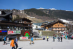 Base of St Anton Ski Area, Austria,