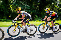 1st July 2021; Chateauroux, France; ROGLIC Primoz (SLO) of JUMBO-VISMA, VAN AERT Wout (BEL) of JUMBO-VISMA  during stage 6 of the 108th edition of the 2021 Tour de France cycling race, a stage of 160,6 kms between Tours and Chateauroux on July 1