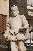 El Greco statue. Sitges, Catalonia, Spain