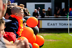 A young AFC Flyde fan with balloons. Vanarama National League North, Promotion Final, North Ferriby United v AFC Fylde, 14th May 2016.
