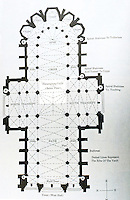 Visual Arts:  Gothic Cathedral--Floor Plan.  David Macauley, CATHEDRAL: THE STORY OF ITS CONSTRUCTION.