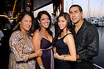 From left: Blanca Murcia, Devon Friesen, Andrea Murcia and Luis Murcia at the second annual Texas Children's Cancer Center Casino Night Cruise in Kemah Friday Oct. 08, 2010. (Dave Rossman/For the Chronicle)