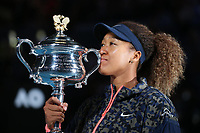 Naomi Osaka, JPN, presenting trophy after 2021 Australian Open final in Melbourne, 20/02/2021 - *** Naomi Osaka, JPN, presenting trophy after 2021 Australian Open final in Melbourne, 20 02 2021 <br /> Photo Schreyer/Imago/Insidefoto ITALY ONLY