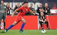 St. Louis, MO - SEPTEMBER 10: Miles Robinson #22 of the United States moves with the ball during their game versus Uruguay at Busch Stadium, on September 10, 2019 in St. Louis, MO.