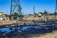 Oil Pollution - Azerbaijan Street scenes from Baku, Azerbaijan