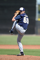 Milwaukee Brewers pitcher J.B. Kole (66) during an Instructional League game against the Seattle Mariners on October 4, 2014 at Peoria Stadium Training Complex in Peoria, Arizona.  (Mike Janes/Four Seam Images)