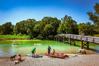 Deutschland, Bayern, Oberbayern, Tegernseer Tal, Gmund: Strandbad am Tegernsee   Germany, Upper Bavaria, Tegernsee Valley, Gmund: lido at Lake Tegernsee