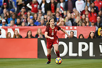San Diego, CA - Sunday January 21, 2018: Andi Sullivan prior to an international friendly between the women's national teams of the United States (USA) and Denmark (DEN) at SDCCU Stadium.