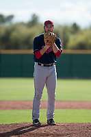 Cleveland Indians relief pitcher Zack Draper (52) during a Minor League Spring Training game against the San Francisco Giants at the San Francisco Giants Training Complex on March 14, 2018 in Scottsdale, Arizona. (Zachary Lucy/Four Seam Images)