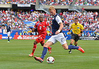 Chicago, IL - Sunday July 28, 2013:   USMNT forward Brek SHEA (23) looks to cross the ball during the CONCACAF Gold Cup Finals soccer match between the USMNT and Panama, at Soldier Field in Chicago, IL.