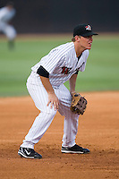 Third baseman C.J. Retherford (10) of the Winston-Salem Warthogs on defense versus the Frederick Keys at Ernie Shore Field in Winston-Salem, NC, Saturday, June 7, 2008.
