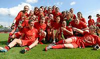 20180526 - Eupen , BELGIUM : Standard's players celebrate after winning  the final of Belgian cup 2018 , a soccer women game between KRC Genk Ladies and Standard Femina de Liege  , in the  Kehrweg stadion in Eupen , saturday 26 th May 2018 . PHOTO SPORTPIX.BE | DAVID CATRY