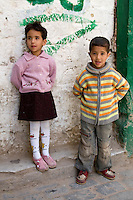 Tripoli, Libya - Libyan Children, Medina (Old City).  Western clothes are commonly worn by most Libyan children.