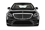 Car photography straight front view of a 2018 Mercedes Benz S-Class 450 4 Door Sedan Front View