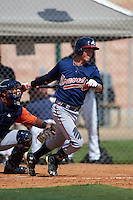 Atlanta Braves Collin Yelich (82) during an instructional league game against the Houston Astros on October 1, 2015 at the Osceola County Complex in Kissimmee, Florida.  (Mike Janes/Four Seam Images)