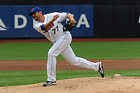 New York Mets pitcher D.J. Carrasco #77 during a game against the Washington Nationals at Citi Field on September 15, 2011 in Queens, NY.  Nationals defeated Mets11-1.  Tomasso DeRosa/Four Seam Images