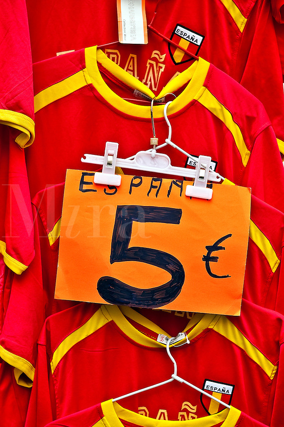 Spanish national tem futball jersey for sale.