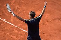 6th June 2021; Roland Garros, Paris France; French Open tennis championships day 8;  Attitude - Joie de Daniil MEDVEDEV ( RUS )