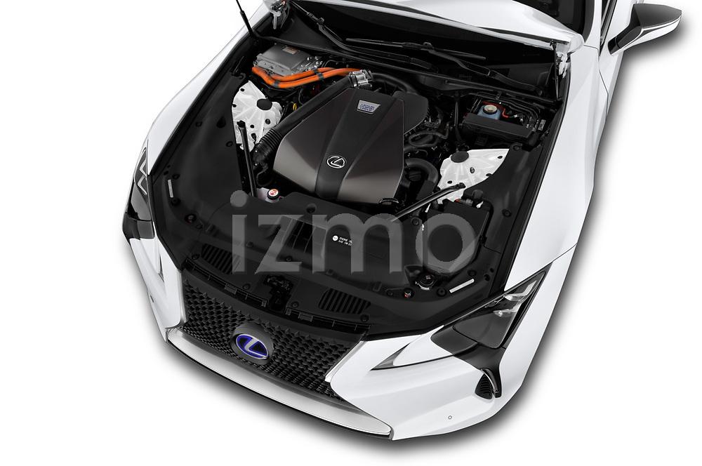 Car stock 2020 Lexus RX 350L 4x2 Select Doors Door SUV engine high angle detail view