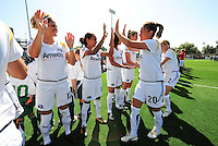 Camille Abily and LA Sol team. The Los Angeles Sol defeated FC Gold Pride, 2-0, at Buck Shaw Stadium in Santa Clara, CA on May 24, 2009.