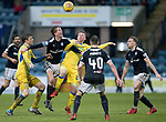 Dundee v St Johnstone…10.03.18…  Dens Park    SPFL<br />Mark O'Hara and Kyle McClean fight for possession <br />Picture by Graeme Hart. <br />Copyright Perthshire Picture Agency<br />Tel: 01738 623350  Mobile: 07990 594431