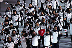 Olympic team of Korea during the parade of nations at the Opening ceremony of the 2014 Sochi Olympic Winter Games at Fisht Olympic Stadium on February 7, 2014 in Sochi, Russia. Photo by Victor Fraile / Power Sport Images