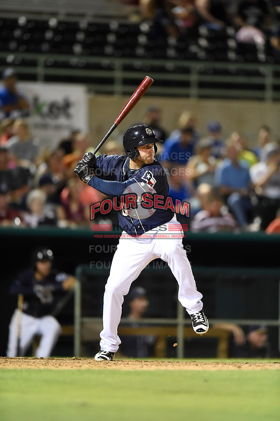 ***Temporary Unedited Reference File***San Antonio Missions first baseman Mike Olt (40) during a game against the Midland RockHounds on April 21, 2016 at Nelson W. Wolff Municipal Stadium in San Antonio, Texas.  Midland defeated San Antonio 9-2.  (Mike Janes/Four Seam Images)