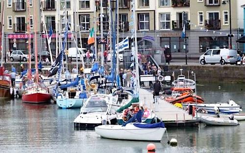 A busy Dungarvan Sailing Club pontoon