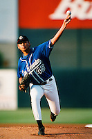 Randey Dorame of the San Bernardino Stampede during a California League baseball game at The Ranch circa 1999 in San Bernardino,CA. (Larry Goren/Four Seam Images)