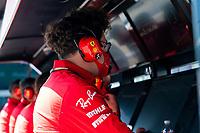 4th September 2020; Autodromo Nazionale Monza, Monza, Italy ; Formula 1 Grand Prix of Italy, free practise sessions;  Mattia Binotto ITA, Scuderia Ferrari Mission Winnow watches the performance monitors