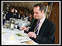 16/03/2009  Copyright Pic: James Stewart.File Name : sct_jspa05_parliament.DAILY MAIL REPORTER JONATHAN BROCKLEBANK TRIES OUT THE BARGAIN FOOD AT THE SCOTTISH PARLIAMENT'S MEMBERS RESTAURANT WASHED DOWN BY A NOT SO INEXPENSIVE WINE......James Stewart Photography 19 Carronlea Drive, Falkirk. FK2 8DN      Vat Reg No. 607 6932 25.Telephone      : +44 (0)1324 570291 .Mobile              : +44 (0)7721 416997.E-mail  :  jim@jspa.co.uk.If you require further information then contact Jim Stewart on any of the numbers above.........