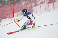 14t March 2021; Podkoren, Kranjska Gora, Slovenia; FIS World Cup Skiing, Mens Slalom;  Zebhausern Ramon SUI // in action during his 1st run of mens Slalom of FIS ski alpine world cup at the Podkoren in Kranjska Gora, Slovenia on 2021/03/14. **** ONLY FOR GERFRAITAESPSUISSEGBR **** *****ATTENTION - OUT of SLO, FRA***** Kranjska Gora *** 14 03 2021, Podkoren, Kranjska Gora, SLO, FIS Alpine Ski World Cup, Slalom, Men, 1 run, in picture Zebhausern Ramon SUI in action during his 1st run of men s Slalom of FIS ski alpine world cup at the Podkoren in Kranjska Gora, Slovenia on 2021 03 14 ONLY FOR GER FRA ITA ESP SUISSE GBR ATTENTION OUT of SLO, FRA Kranjska Gora