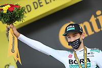 15th September 2020; Lyon, France; Tour De France 2020, La Tour-du-Pin to Villard-de-Lans, stage 16; Lennard Kamna Germany Bora - Hansgrohe on the podium