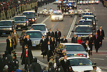 Vice President Joe Biden and his family walk down Pennsylvania Avenue at the start of the Inaugural Parade.