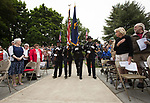 The Beaverton Police Honor Guard prepare to Post the Colors during Beaverton's Memorial Day service at Veterans Memorial Park.<br /> Photo bt Jaime Valdez