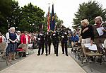 The Beaverton Police Honor Guard prepare to Post the Colors during Beaverton's Memorial Day service at Veterans Memorial Park.<br /> Photo bt Jaime Valdez