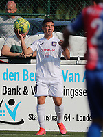 Mohamed Bouchouari  (14) of Anderlecht with the ball during a friendly soccer game between K Londerzeel SK and RSC Anderlecht Reserves during the preparations for the 2021-2022 season , on Wednesday 21st of July 2021 in Londerzeel , Belgium . PHOTO SEVIL OKTEM | SPORTPIX
