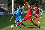Giuseppe Burgio (Nr.13, FC Astoria Walldorf) im Kampf um den Ball  beim Spiel, FC Astoria Walldorf - SC Freiburg II.<br /> <br /> Foto © PIX-Sportfotos *** Foto ist honorarpflichtig! *** Auf Anfrage in hoeherer Qualitaet/Aufloesung. Belegexemplar erbeten. Veroeffentlichung ausschliesslich fuer journalistisch-publizistische Zwecke. For editorial use only. DFL regulations prohibit any use of photographs as image sequences and/or quasi-video.