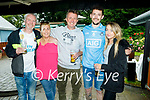 Enjoying the outdoor dining at McCarthy's in Finuge on Sunday, l to r: Gary, Marie,George and Ciaran Carey and Taylor Heaphy.