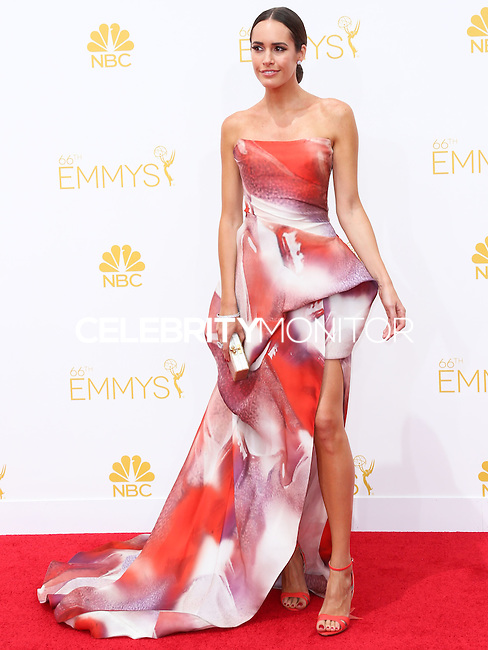 LOS ANGELES, CA, USA - AUGUST 25: Louise Roe arrives at the 66th Annual Primetime Emmy Awards held at Nokia Theatre L.A. Live on August 25, 2014 in Los Angeles, California, United States. (Photo by Celebrity Monitor)