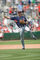 Hughes, Luke 7975.jpg. Minnesota Twins at Philadelphia Phillies. Spring Training Game. Saturday March 21st, 2009 in Clearwater, Florida. Photo by Andrew Woolley.