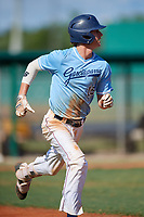 Carson Williams (12) during the WWBA World Championship at Terry Park on October 11, 2020 in Fort Myers, Florida.  Carson Williams, a resident of San Diego, California who attends Torrey Pines High School, is committed to California.  (Mike Janes/Four Seam Images)