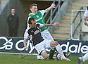 27/03/2010   Copyright  Pic : James Stewart.sct_jspa17_falkirk_v_hibernian  .::  DEREK RIORDAN IS CHALLENGED BY MARK STEWART  ::  .James Stewart Photography 19 Carronlea Drive, Falkirk. FK2 8DN      Vat Reg No. 607 6932 25.Telephone      : +44 (0)1324 570291 .Mobile              : +44 (0)7721 416997.E-mail  :  jim@jspa.co.uk.If you require further information then contact Jim Stewart on any of the numbers above.........