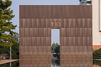 Oklahoma City National Memorial, Oklahoma, USA. Looking toward 9:03 Entrance Gate.