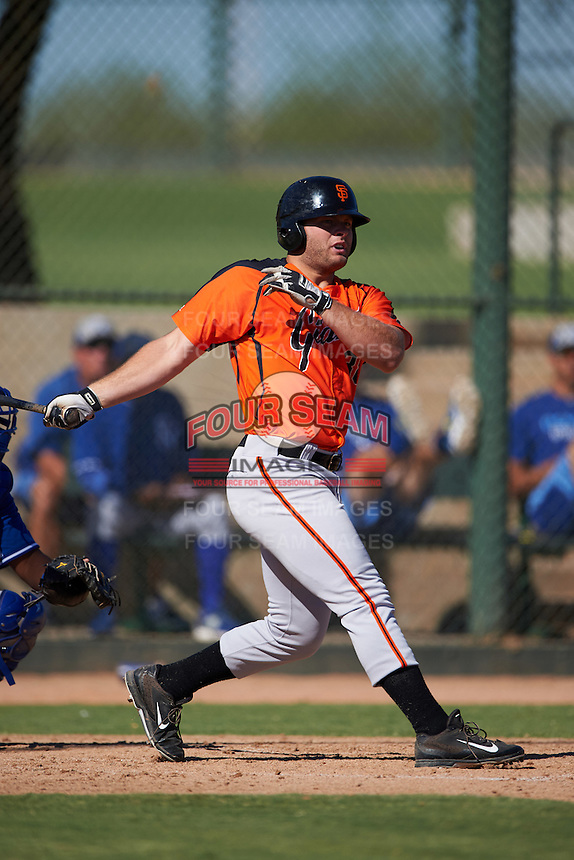 San Francisco Giants Tyler Horan (38) during an instructional league game against the Kansas City Royals on October 23, 2015 at the Papago Baseball Facility in Phoenix, Arizona.  (Mike Janes/Four Seam Images)