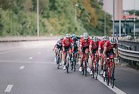 Jasper Stuyven (BEL/Trek-Segafredo) escorted by teammates all day long<br /> <br /> 52nd GP Jef Scherens - Rondom Leuven 2018 (1.HC)<br /> 1 Day Race: Leuven to Leuven (186km/BEL)
