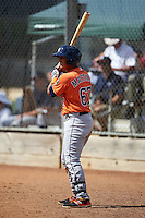 Houston Astros Jorge Martinez (67) during an instructional league game against the Atlanta Braves on October 1, 2015 at the Osceola County Complex in Kissimmee, Florida.  (Mike Janes/Four Seam Images)