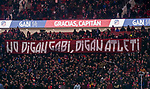 Soccer fans show their support to former captain of Atletico de Madrid Gabriel Fernandez Arenas, Gabi, as he attends a tribute in his honor after the La Liga 2018-19 match between Atletico de Madrid and RCD Espanyol at Wanda Metropolitano on December 22 2018 in Madrid, Spain. Photo by Diego Souto / Power Sport Images