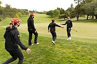 STANFORD, CA - APRIL 25: Malia Nam, Allisen Corpuz, Alyaa Abdulghany, Amelia Garvey at Stanford Golf Course on April 25, 2021 in Stanford, California.